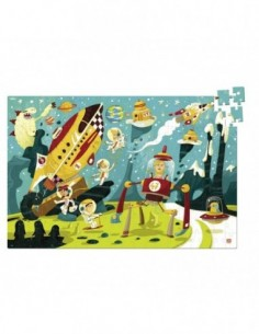 Puzzle en bois : Cheval Tornado - 9 pièces - Janod
