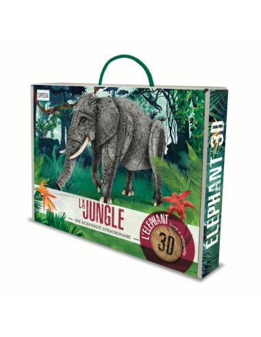 L'éléphant 3D. La jungle. Une...