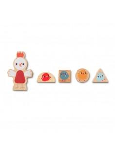 MAILEG Miniature rug, 24 x 18 cm. - Blac 5707304097617