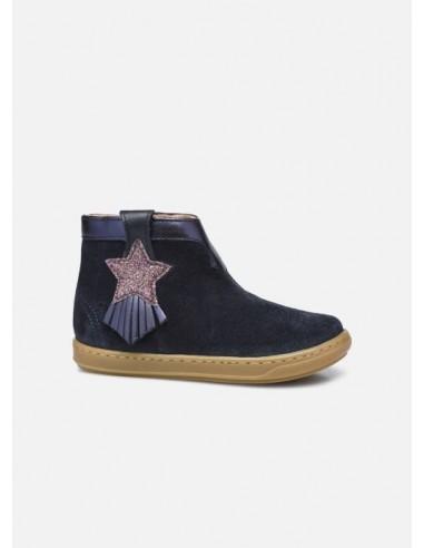Boots fille bleu marine étoile Bouba Kid