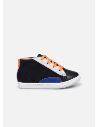 Chaussures garçon velours navy Bouba...