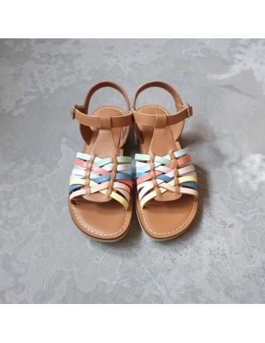 Sandale fille Lazar Mia Camel Multicolor