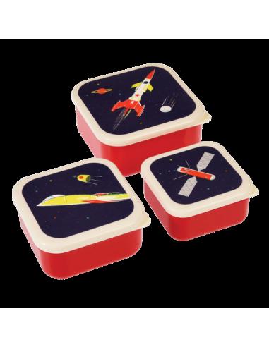 Set De 3 Boîtes À Goûter Space Age