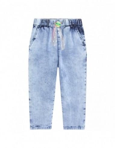 Pantalon Carotte Denim Fille