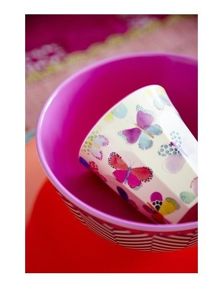 RICE Verre Mélamine imprimé Papillons 5708315139846