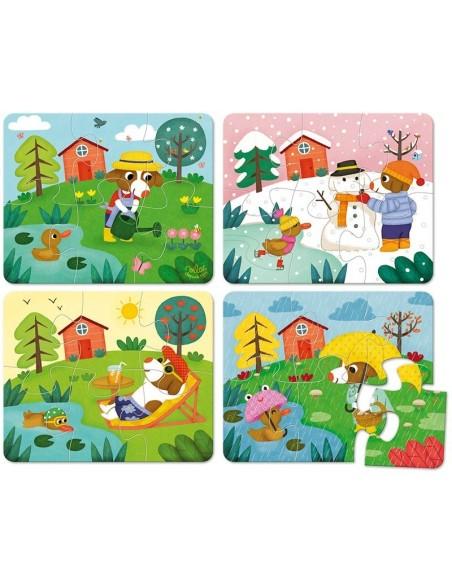 Puzzles des 4 saisons - coffret bois