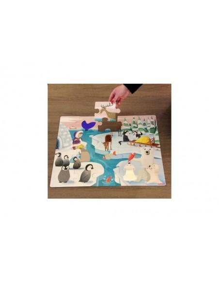 """Puzzle TactileLa vie sur la banquise""""-20 pièces"""""""