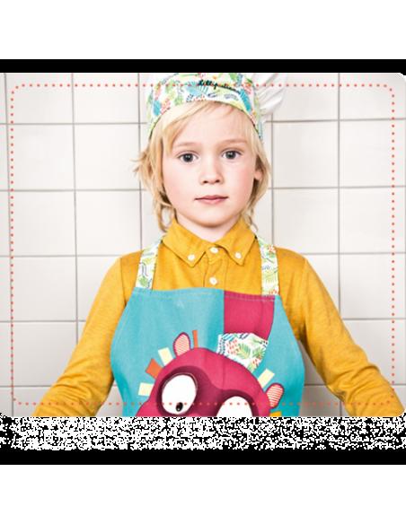 Tablier et toque Georges - Little Chef