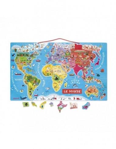 Puzzle Monde Magnétique 92 pcs (bois)