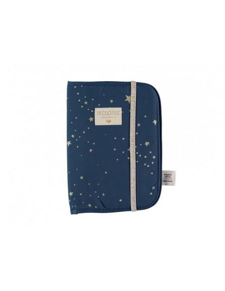 Protège carnet de santé Poema gold stella night blue