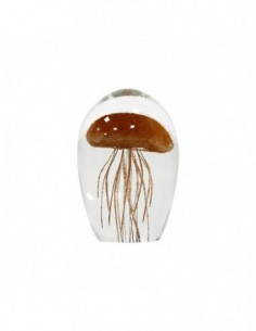 Vase en verre avec base Laiton