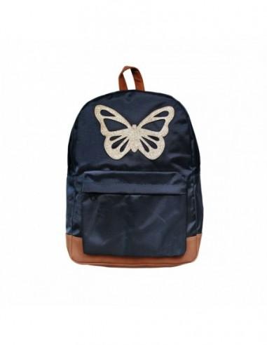 Grand Sac à dos Papillon Bleu
