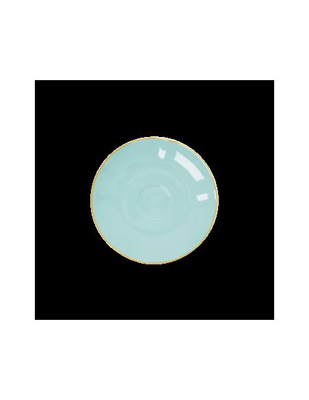 Soucoupe en porcelaine - menthe