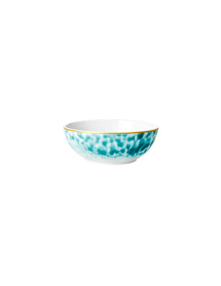 Bol de petit déjeuner en porcelaine, Impression Glaze - Jade