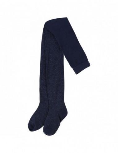 Collant bleu pailleté