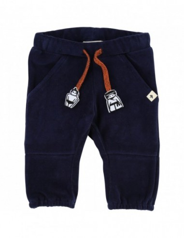 Pantalon velours bleu marine