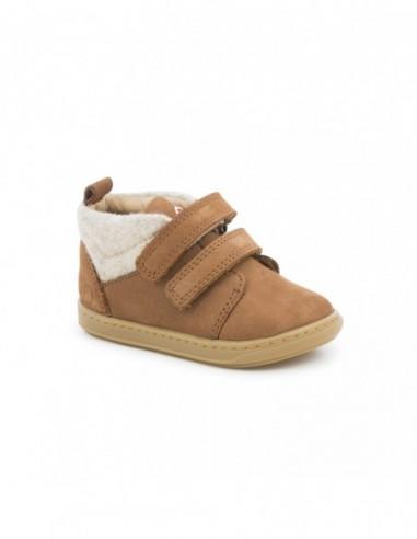 Chaussures Bouba Scratch Woo Camel Ecru