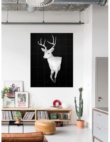 Tableau Deer Dark&Light - large -120 x160 cm