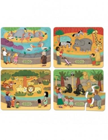 Puzzle du zoo 4*6 pcs
