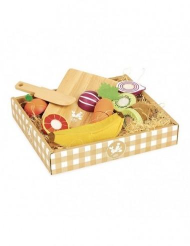 Fruits et légumes à découper Jour du marché