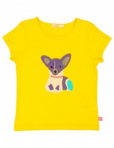 T-shirt Jaune illustré