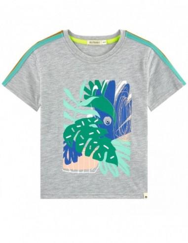 T-shirt gris clair chine