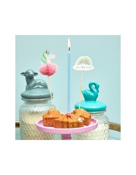 Baguettes de fête - forme de licorne et arc-en-ciel - 12 pièces