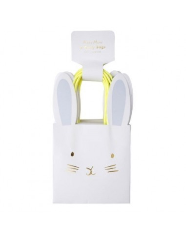 8 sacs cadeaux en papier lapin