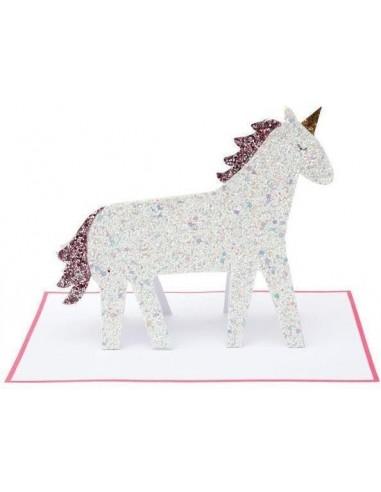 Carte à poser Licorne Glitter