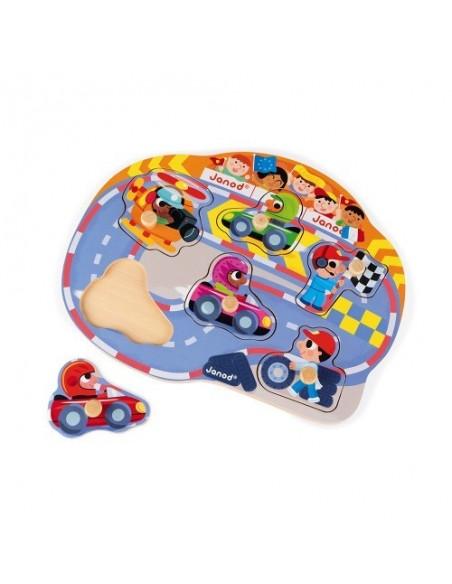 Puzzle Happy Racing 6 pcs