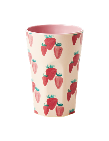 Grand Verre mélamine  Strawberry Print