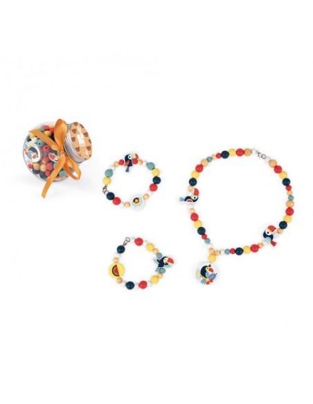 220 Perles Toucans Birdy (bois)
