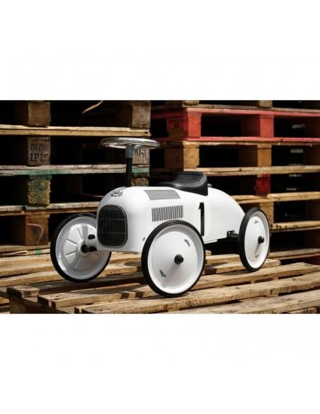 Porteur voiture vintage Blanc polaire