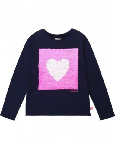 T-shirt fantaisie à sequin coeur Beu indigo