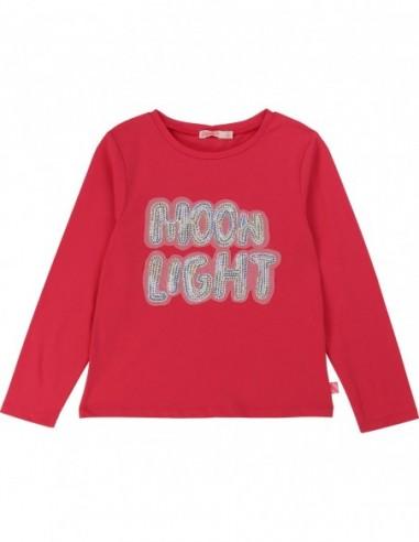 T-shirt sequin Moon Light cranberries