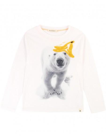 T-shirt coton avec imprimé Offwhite