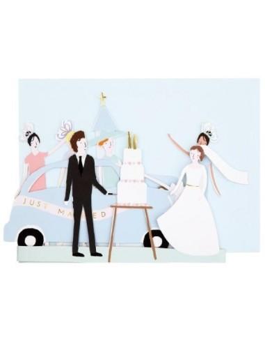 Carte accordéon Just Married