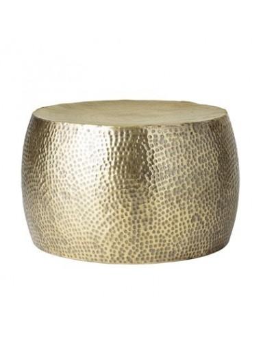 Table basse Hella, laiton, métal