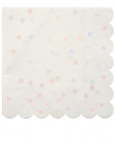 Petites serviettes à pois roses