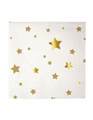 Petites serviettes étoiles dorées