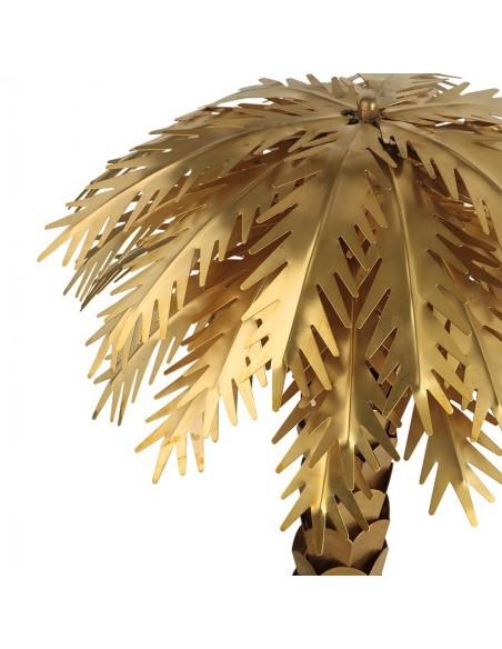 Lampe Pied Palmier metal doré brossé -