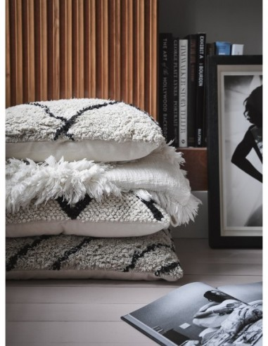 Coussin en coton tissé motif losange