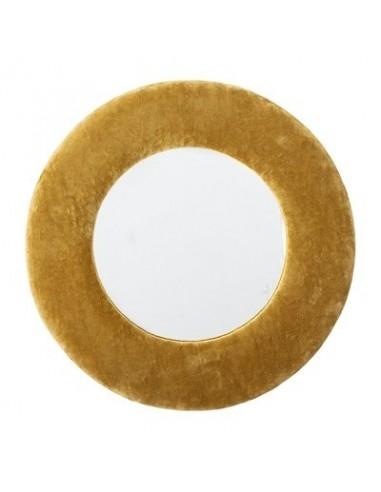 Miroir, jaune, coton