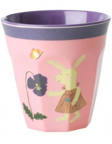 Petite tasse pour enfants en mélamine - imprimé lapin