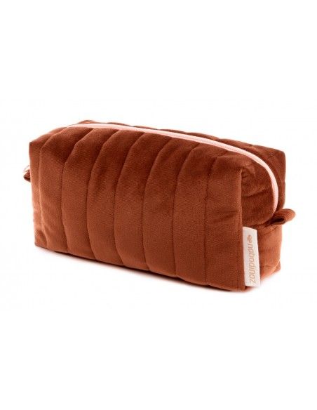 Trousse de toilette SAVANNA velours WILD BROWN