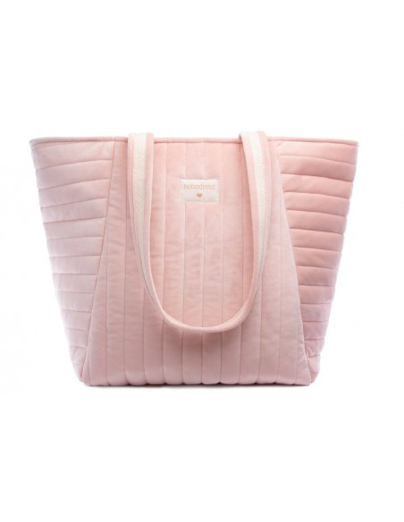 Sac de maternité SAVANNA velours BLOOM PINK