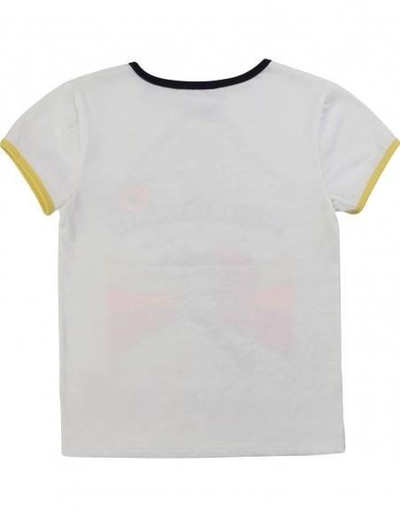 T-shirt en coton à bord-côte