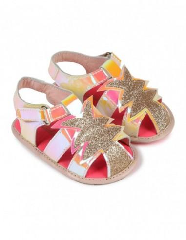 Sandales doublées en cuir
