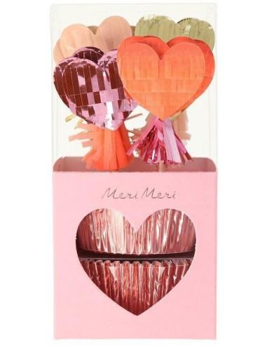 Kit cupcakes cœurs pinata