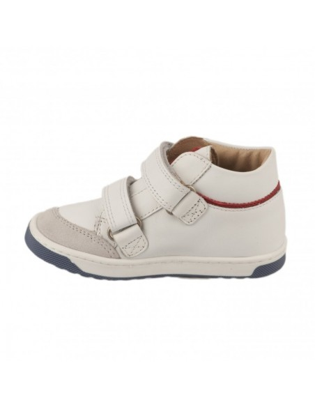 Chaussure OOPS USA NAPPA Blanc et rouge